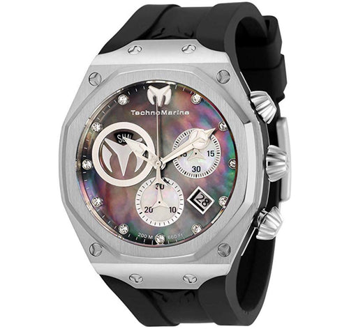 Men's Reef Sun Stainless Steel Quartz Watch with Silicone Strap, Black, 32.5 TM-519012 - Boutique Watches & More