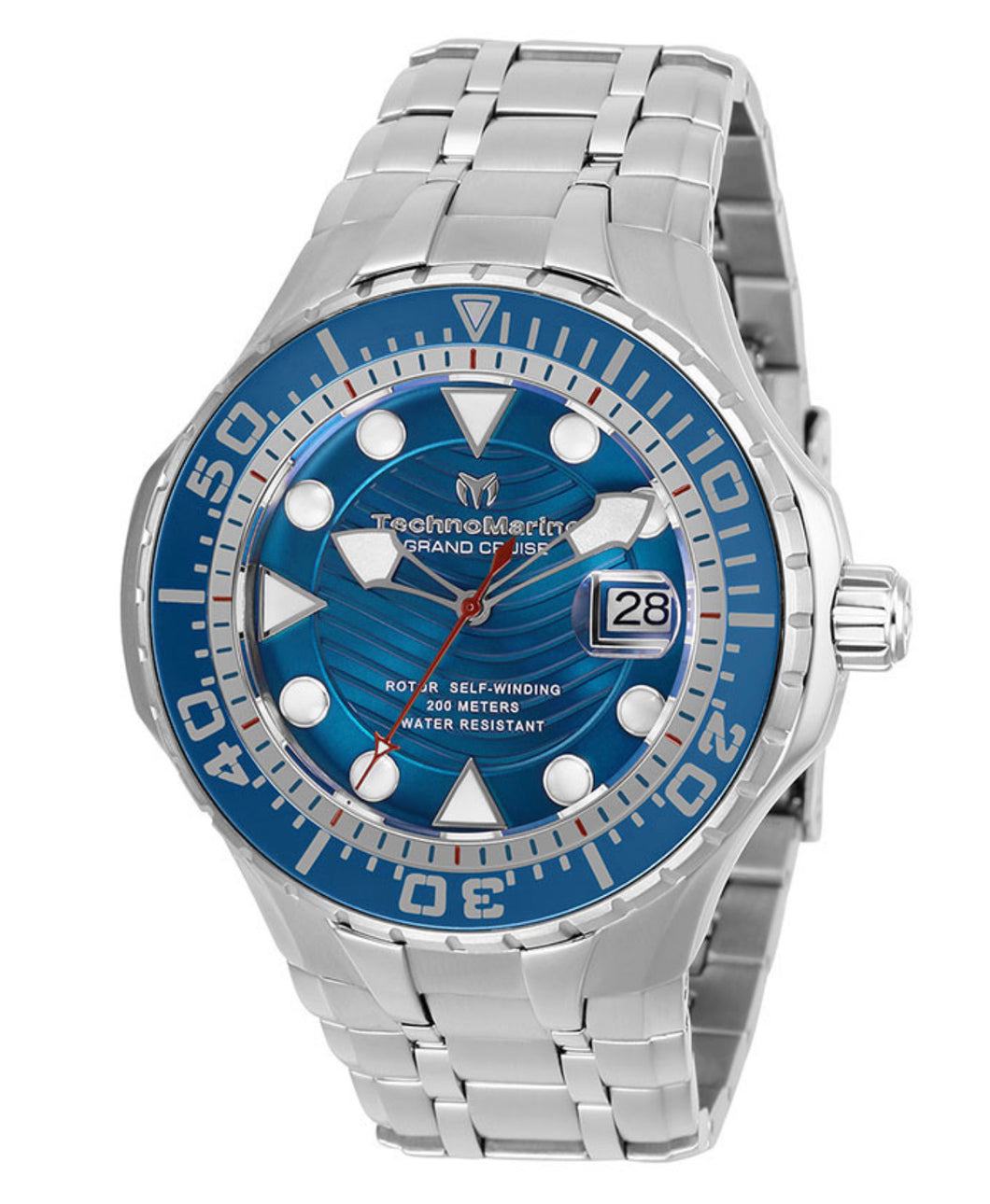 TECHNOMARINE CRUISE MENS AUTOMATIC 48MM STAINLESS STEEL SILVER CASE METAL DIAL - MODEL TM-118071 - Boutique Watches & More