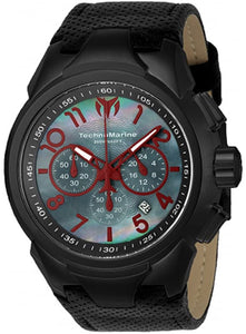 Technomarine Men's TM-715026 Sea Dream Black Dial & Black Leather Strap Watch - Boutique Watches & More