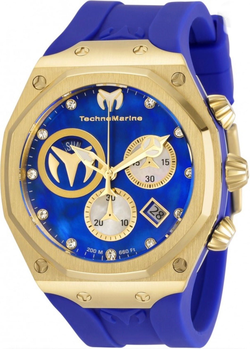 Technomarine Reef Sun Chronograph Quartz Crystal Men's Watch TM-519015 - Boutique Watches & More