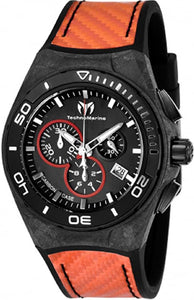 TECHNOMARINE CRUISE CARBON MENS 45 CARBON FIBER, STAINLESS STEEL CASE BLACK DIAL - MODEL TM-116006 - Boutique Watches & More