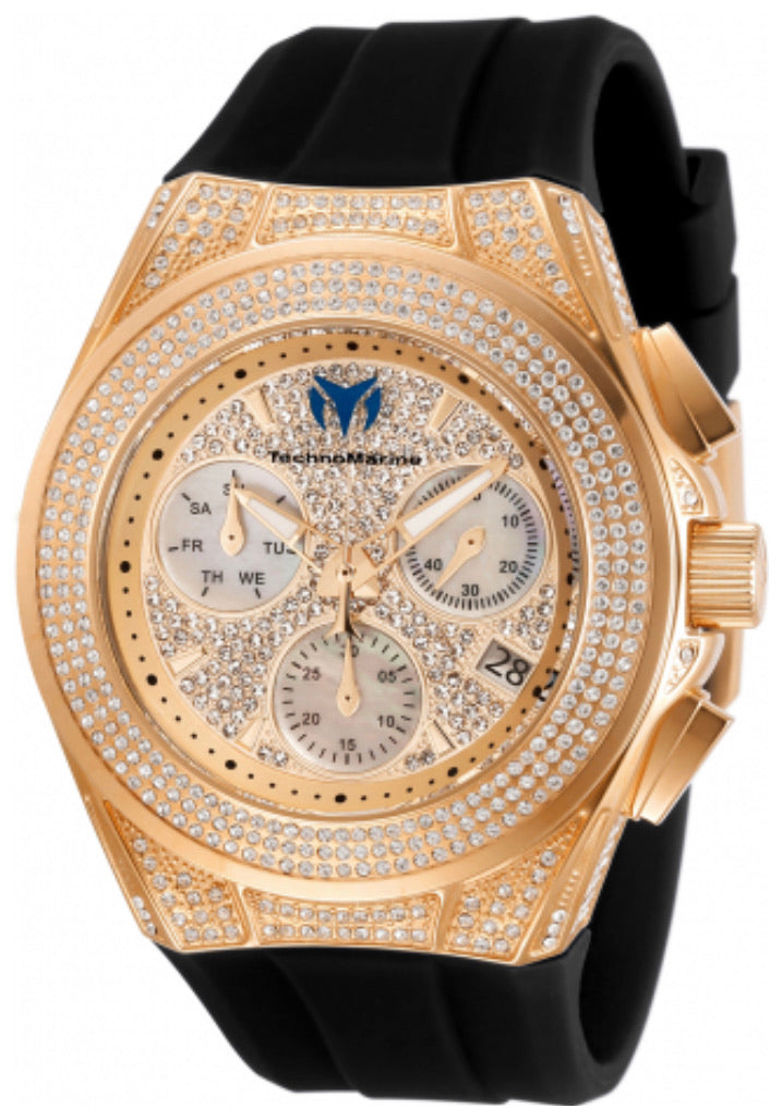 TechnoMarine Diva Pave Cruise Collection Ladies Watch TM-118109 - Boutique Watches & More