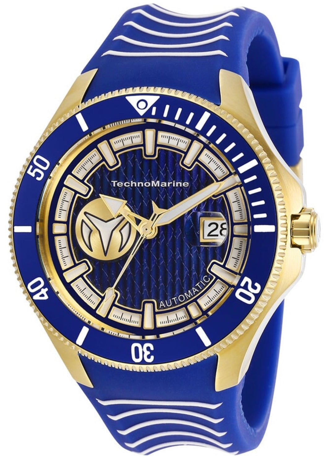 TECHNOMARINE CRUISE MENS AUTOMATIC 225MM STAINLESS STEEL BLUE, WHITE CASE - MODEL TM-118013 - Boutique Watches & More