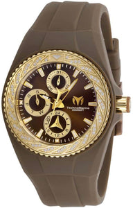 TECHNOMARINE CRUISE MENS QUARTZ 36MM PLASTIC BROWN CASE METAL DIAL - MODEL TM-118110 - Boutique Watches & More