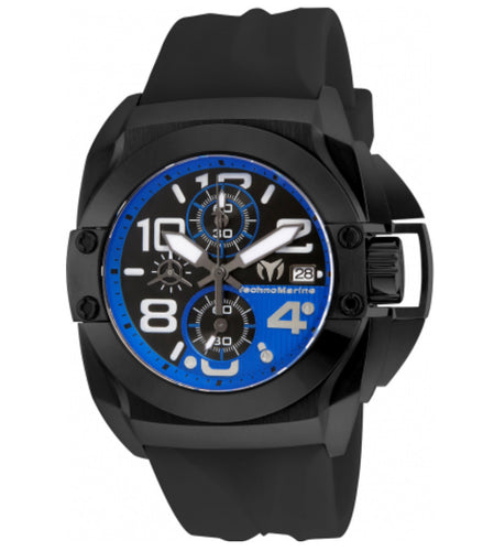 TECHNOMARINE BLACK REEF 45MM WATCH WITH BLACK BLACK+BLUE DIAL VK67 QUARTZ - MODEL TM-515016 - Boutique Watches & More