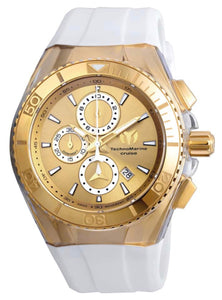TECHNOMARINE CRUISE STAR 46.65MM WATCH WITH14K YELLOW GOLD - MODEL 115049 - Boutique Watches & More