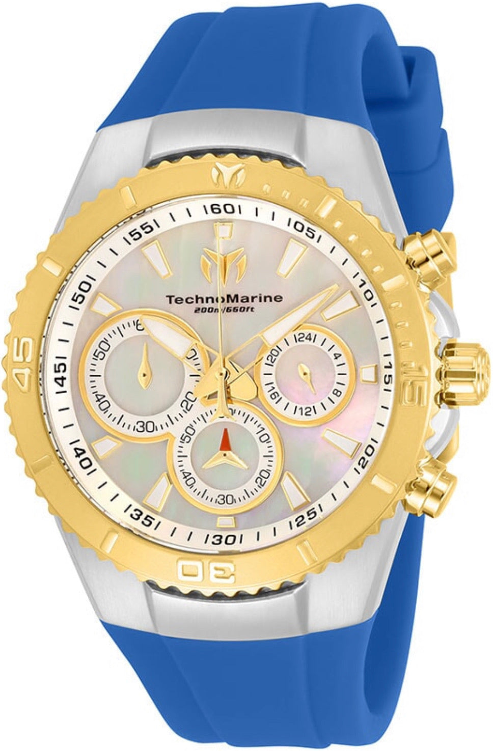 TECHNOMARINE MANTA MENS QUARTZ 40MM STAINLESS STEEL BLUE CASE MOTHER OF PEARL DIAL - MODEL TM-218043 - Boutique Watches & More