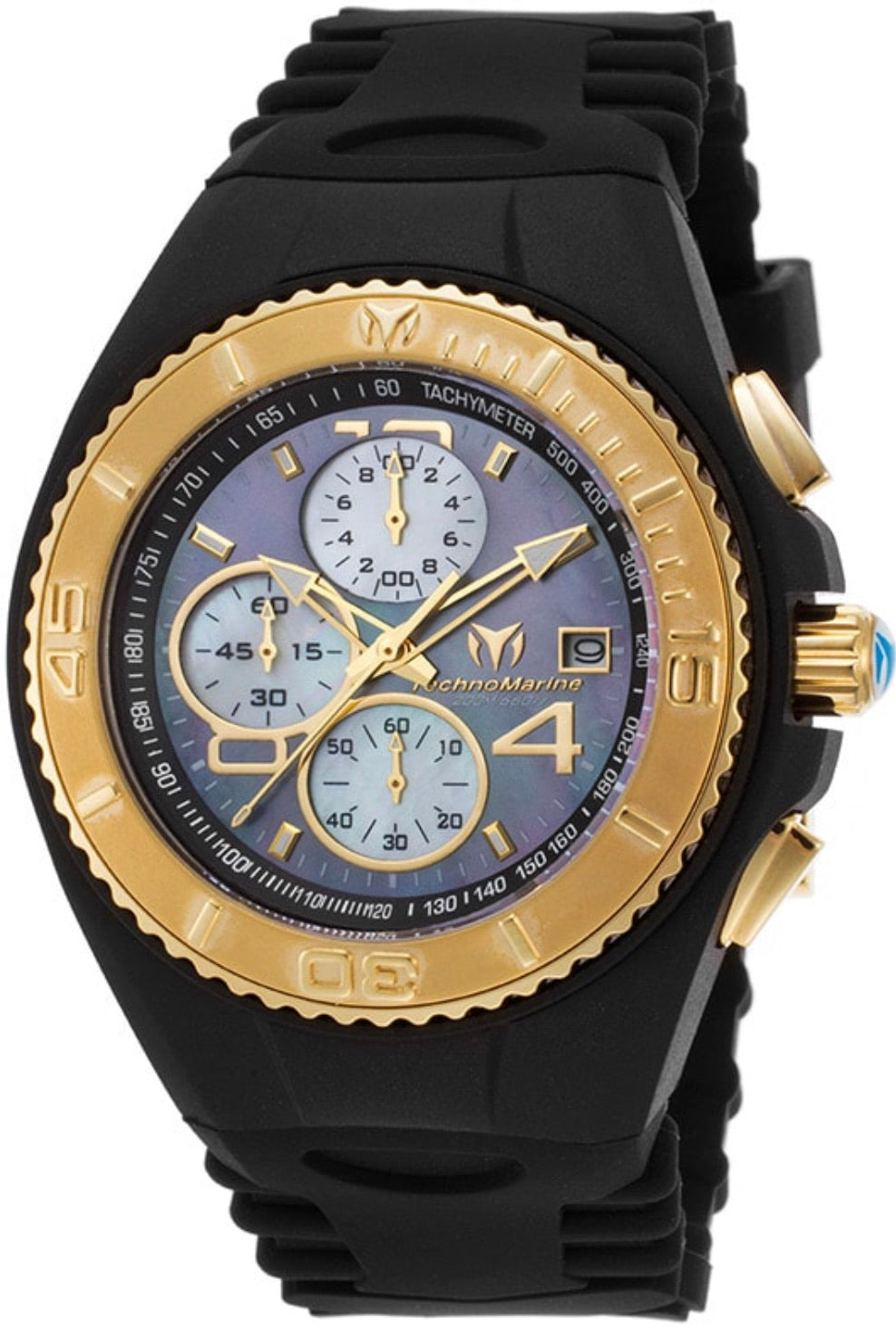 TECHNOMARINE MEN'S TM-115352 CRUISE ORIGINAL QUARTZ BLACK, GOLD DIAL WATCH - Boutique Watches & More
