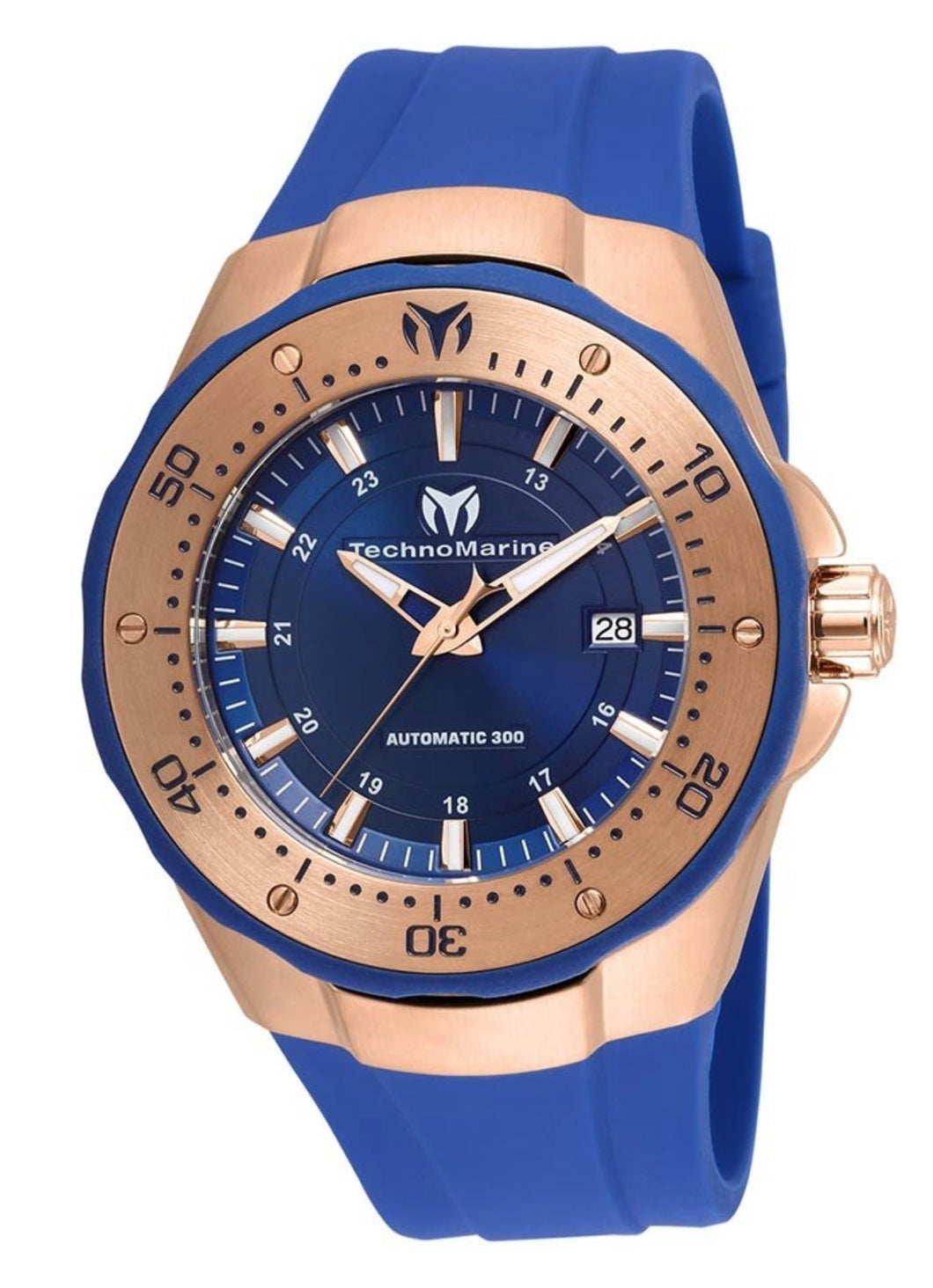 TECHNOMARINE MANTA SEA AUTOMATIC MENS 48 STAINLESS STEEL CASE BLUE DIAL - MODEL TM-215087 - Boutique Watches & More