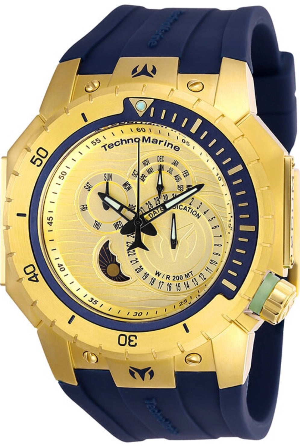 TECHNOMARINE MANTA MENS QUARTZ 48.8MM STAINLESS STEEL BLUE CASE METAL DIAL - MODEL TM-216010 - Boutique Watches & More