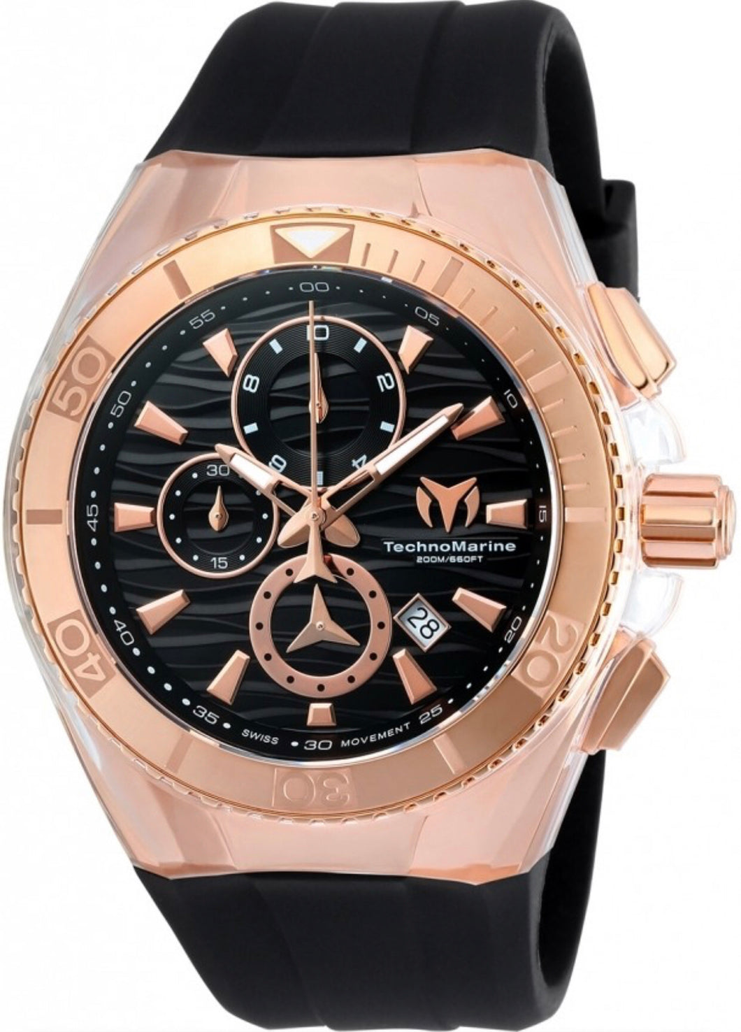 Technomarine Cruise Star Chronograph Quartz Black Dial Men's Watch TM-115048 - Boutique Watches & More