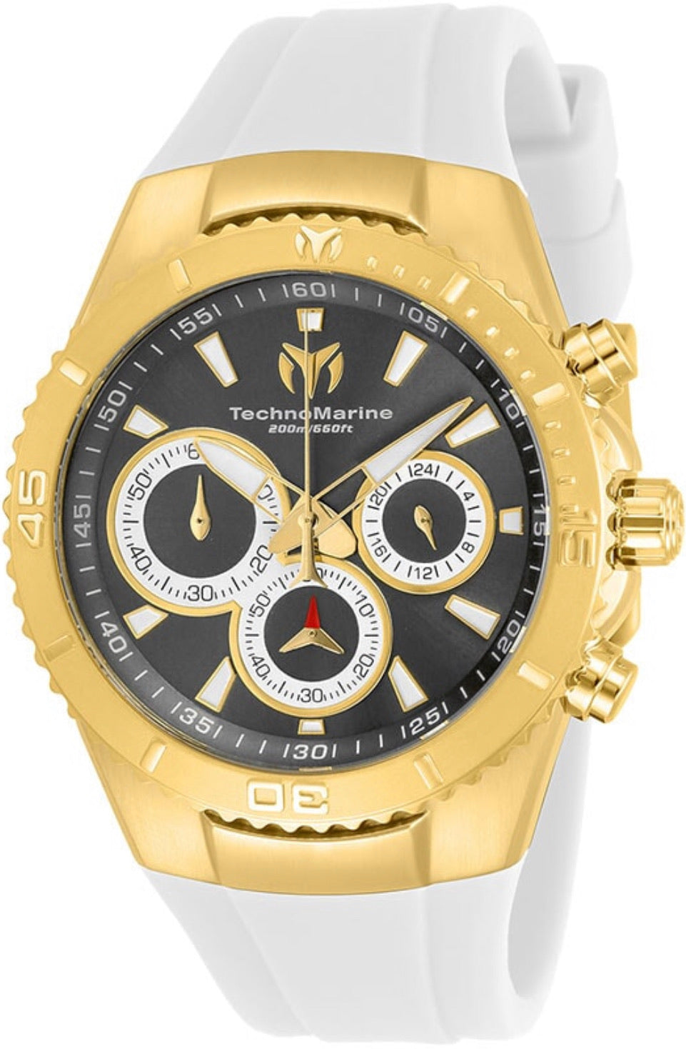 TECHNOMARINE MANTA MENS QUARTZ 40MM STAINLESS STEEL WHITE CASE METAL DIAL - MODEL TM-218038 - Boutique Watches & More