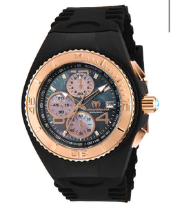 TECHNOMARINE CRUISE JELLYFISH 46MM WATCH WITH BLACK BLACK+ROSE GOLD DIAL VD57 QUARTZ - MODEL 115351 - Boutique Watches & More