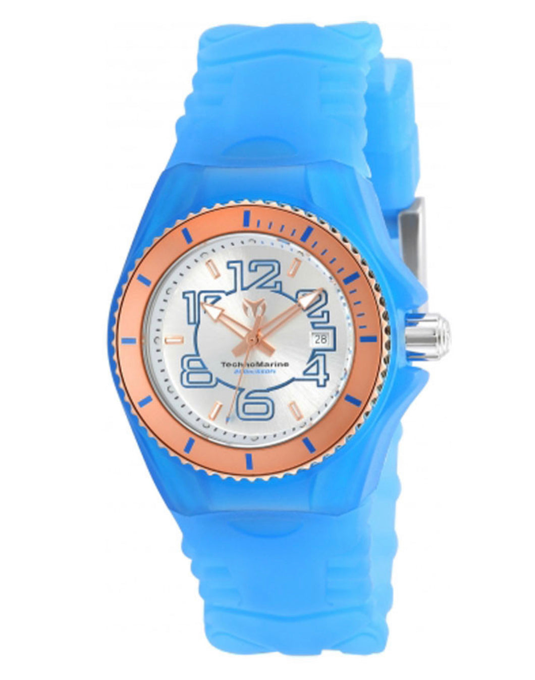TECHNOMARINE CRUISE JELLYFISH 34MM WATCH WITH ROSE GOLD + SILVER DIAL 585 QUARTZ - MODEL TM-115135 - Boutique Watches & More