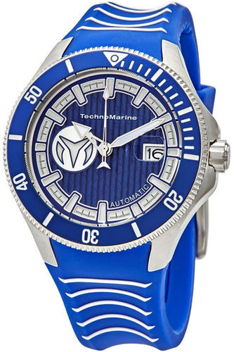 TECHNOMARINE 5.0 star rating Cruise Automatic Blue Dial Men's Watch TM-118012 - Boutique Watches & More