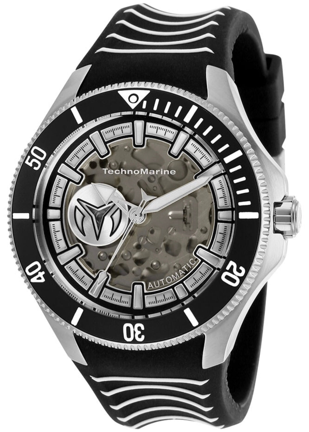 TECHNOMARINE CRUISE MENS AUTOMATIC 47 MM STAINLESS STEEL CASE BLACK,MODEL TM-118019 - Boutique Watches & More