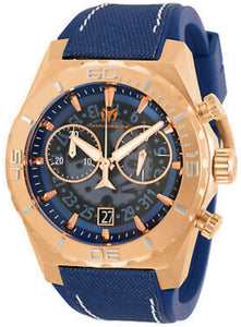 TechnoMarine Men's Reef TM-519010 48mm Blue Dial Silicone Watch - Boutique Watches & More
