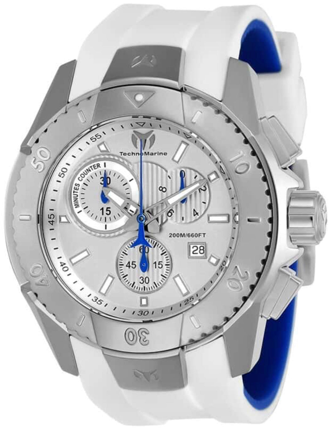TECHNOMARINE UF6 MENS 48 STAINLESS STEEL CASE SILVER DIAL - MODEL TM-616001 - Boutique Watches & More