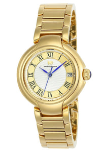 TECHNOMARINE SEA WOMENS QUARTZ 32MM GOLD CASE SILVER, GOLD DIAL - MODEL TM-716007 - Boutique Watches & More