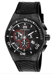 TECHNOMARINE CRUISE CARBON MENS 45MM BLACK, STAINLESS STEEL CASE CARBON DIAL - MODEL TM-116004 - Boutique Watches & More