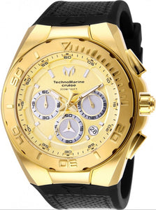 TECHNOMARINE CRUISE MENS 45MM GOLD CASE METAL DIAL -MODEL TM-117004 - Boutique Watches & More