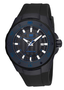 TECHNOMARINE MANTA SEA AUTOMATIC MENS 48 STAINLESS STEEL CASE BLACK DIAL - MODEL TM-215089 - Boutique Watches & More