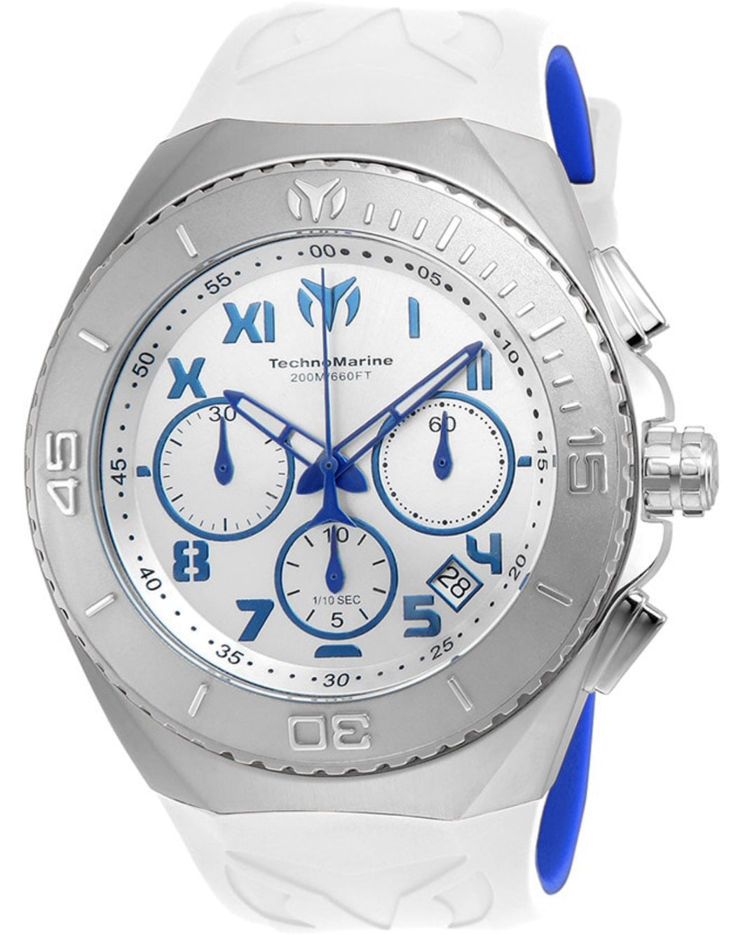 TECHNOMARINE MANTA MENS QUARTZ 48MM STAINLESS STEEL CASE SILVER, BLUE DIAL - MODEL TM-215063 - Boutique Watches & More