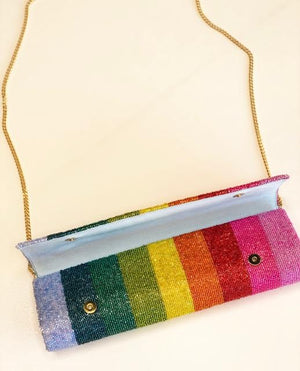 Custom Beaded Name Clutch