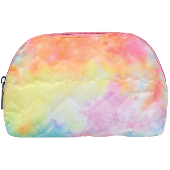 Cotton Candy Quilted Cosmetic Pouch