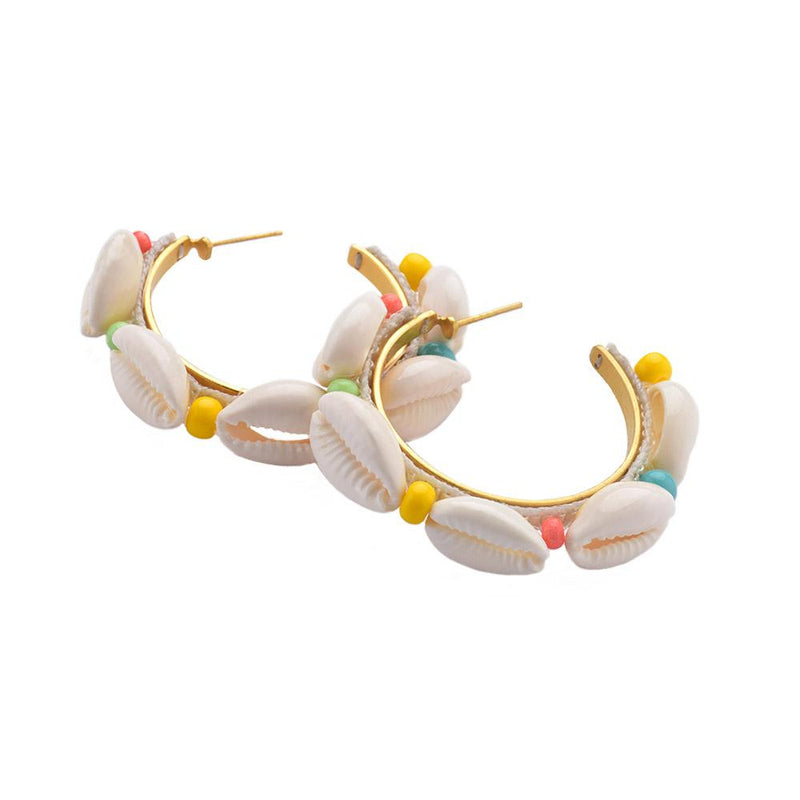Conchitas Shell Hoops