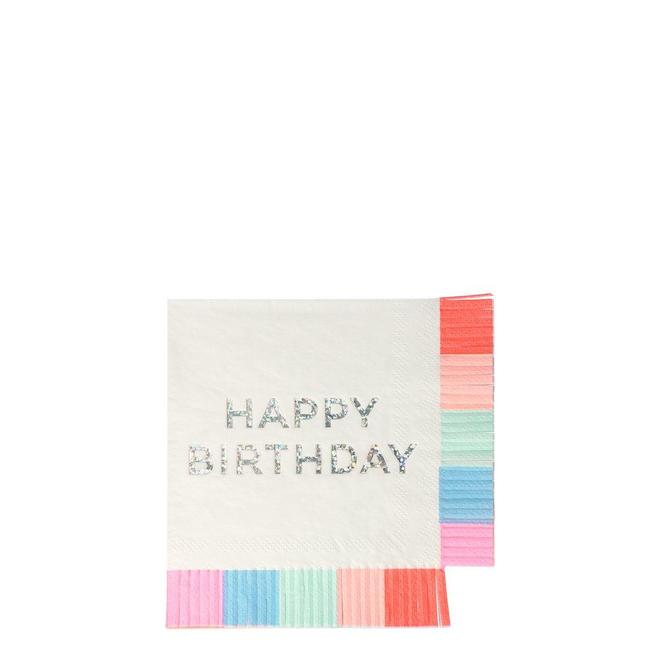 Birthday Fringe Napkins