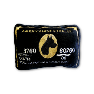 Americanine Express Black Card Dog Toy