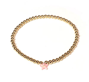 Light Pink Opal Star Bracelet