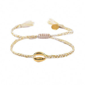 Braided Shell Bracelet