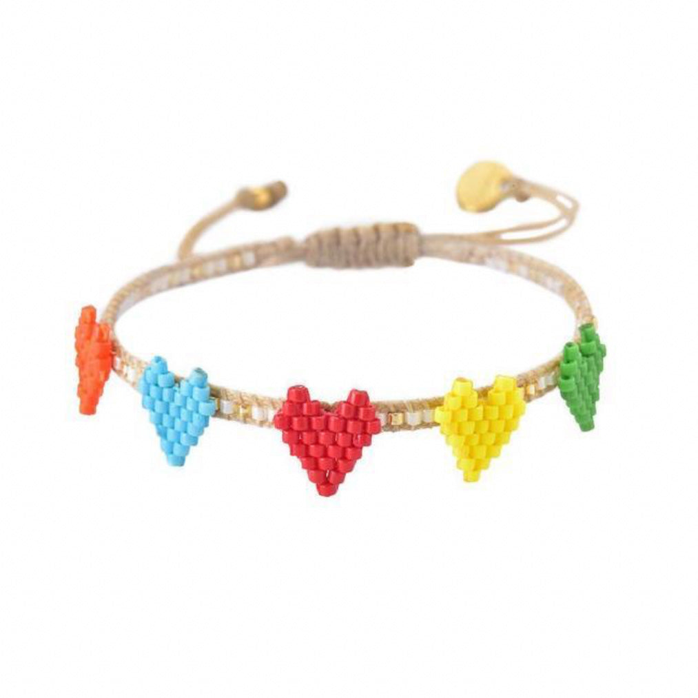 Multi Heart Beaded Bracelet