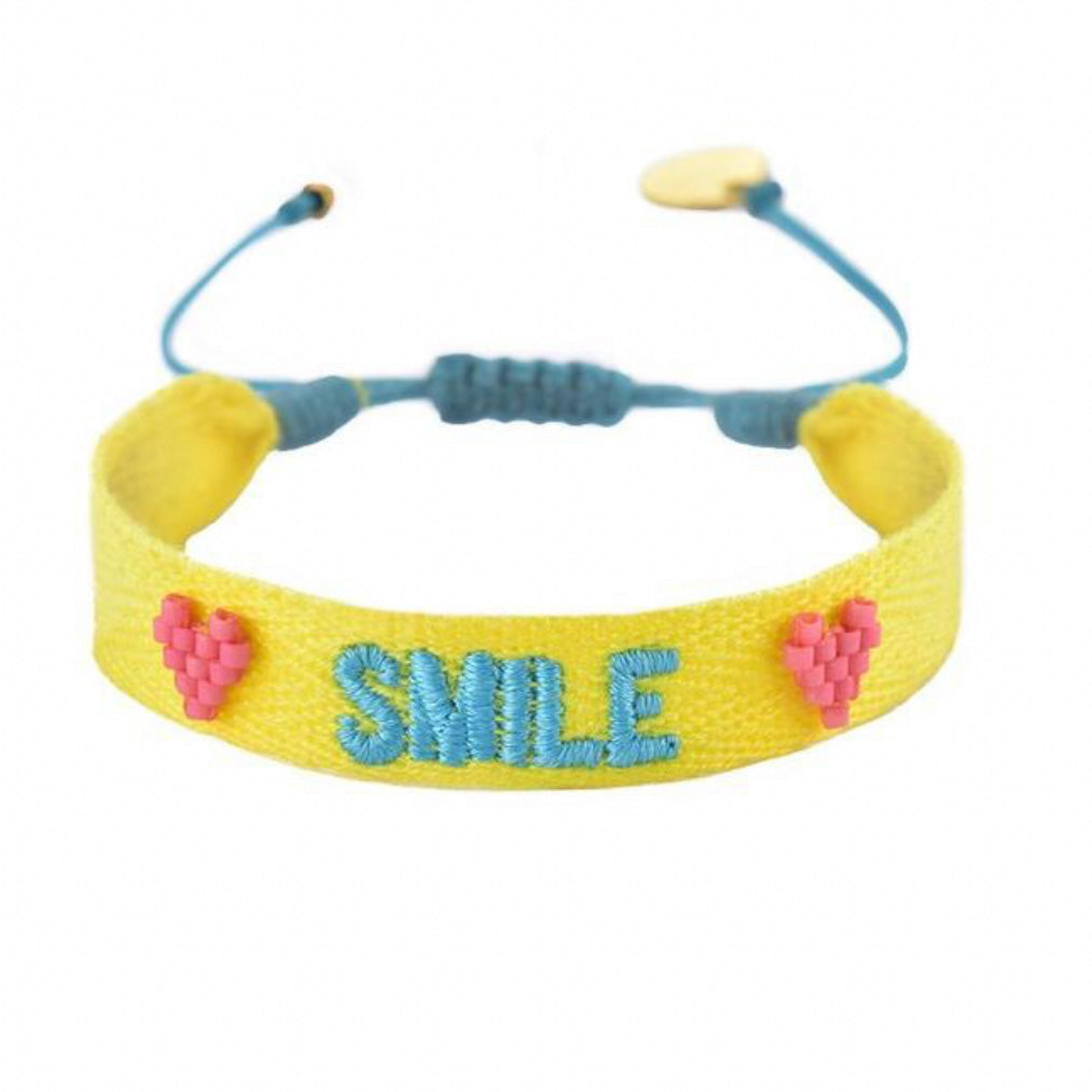 SMILE Embroidered Bracelet