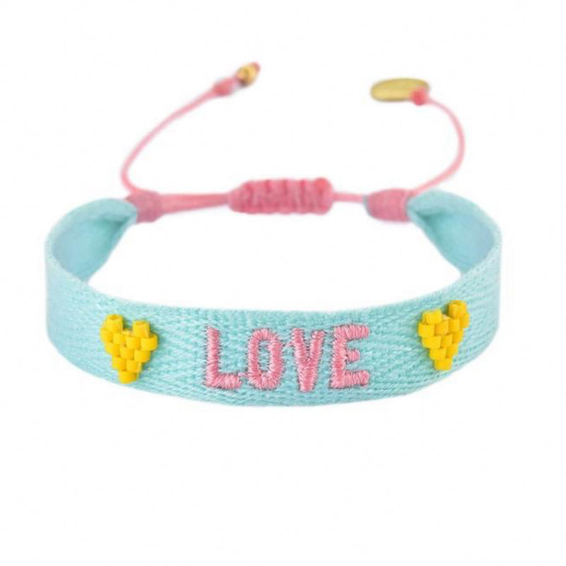 LOVE Embroidered Bracelet