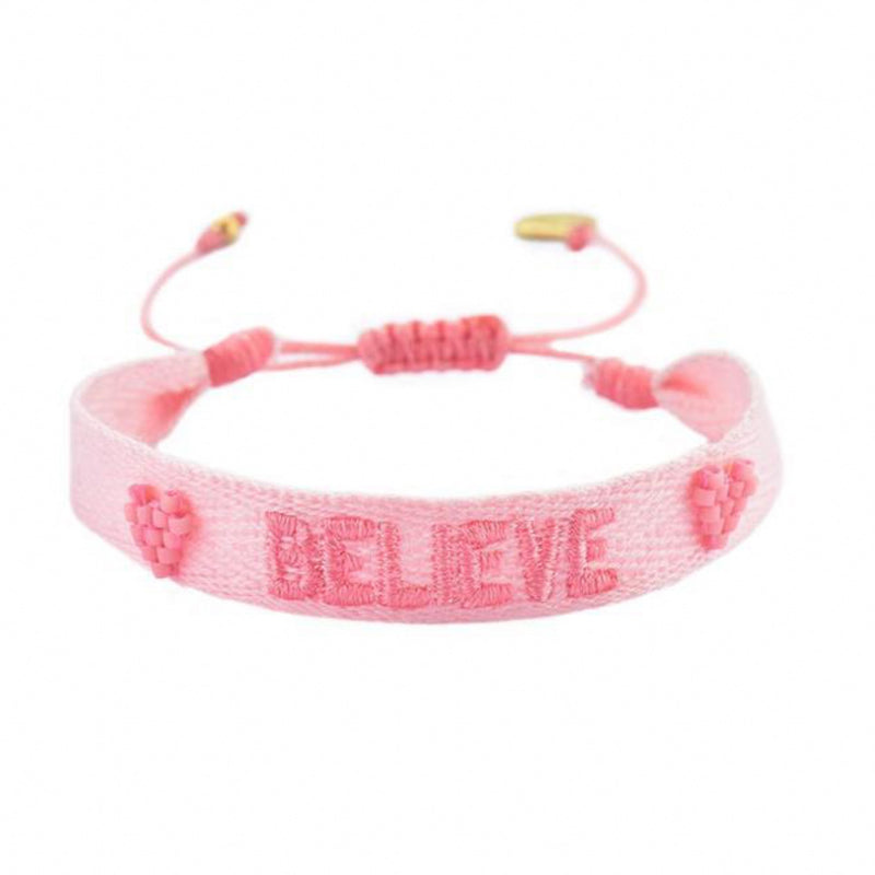 BELIEVE Embroidered Bracelet