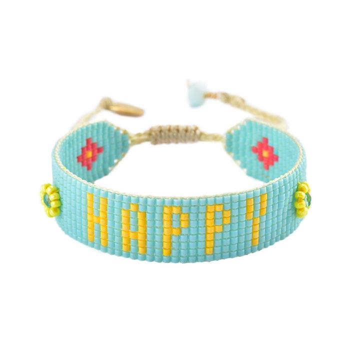 HAPPY Beaded Bracelet