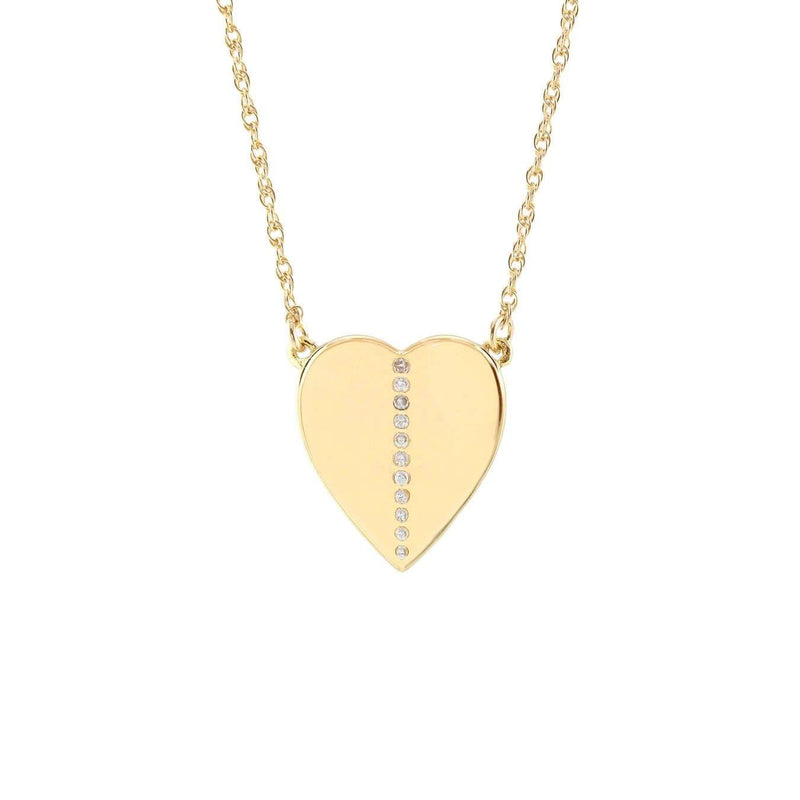 Heart Necklace With Pave Stones