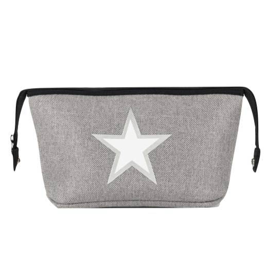 Grey Star Linen Neoprene Cosmetic Case