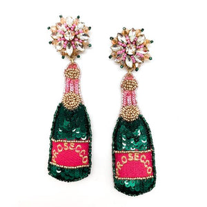 Prosecco Beaded Earrings