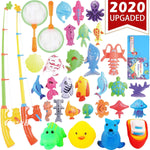 Kids Fishing Toys Game - 26 fish & 4 squeak toys