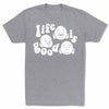 Bitty-Buda-Life-Is-Good-Men-T-Shirt-Grey