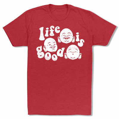 Bitty-Buda-Life-Is-Good-Men-T-Shirt-Red