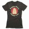 Happy-Mind-Happy-Life-Bitty-Buda-Women-T-Shirt-Green