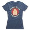 Happy-Mind-Happy-Life-Bitty-Buda-Women-T-Shirt-Blue