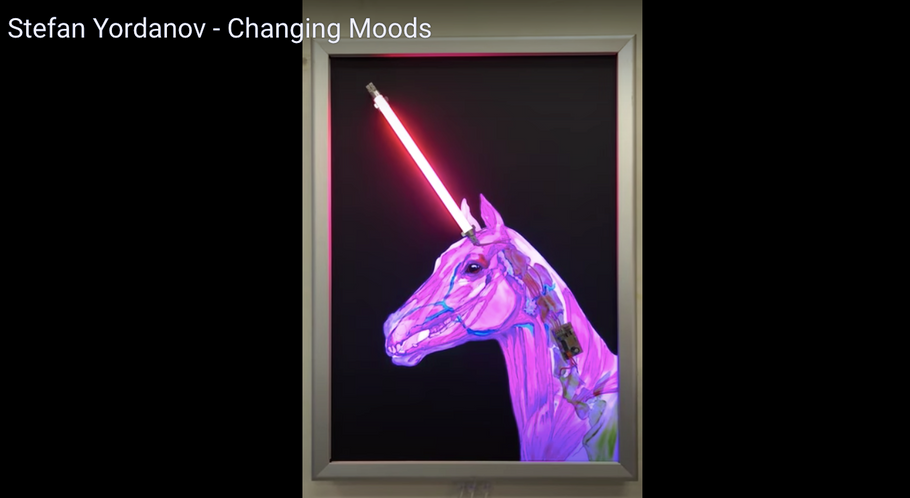 Explore 'Changing Moods' one of Stefan Yordanov's wall based light sculptures