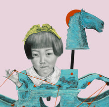 Load image into Gallery viewer, The Blue Horse and the Dimensions | Allison M Low | Drawing