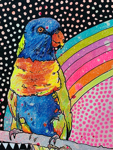 Living in the Rainbows 1  I Carley Cornelissen | Painting